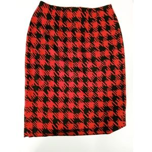 Halogen Houndstooth Pencil Skirt